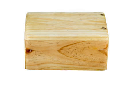 trait: a box made from wood straight face