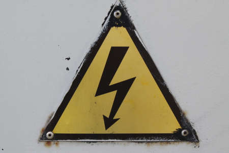 radium: Black and yellow danger warning sign. Attention background