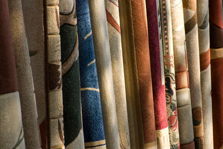 Colorful carpet texture examples for your home ideal for your folder or brochoure Stock Photo