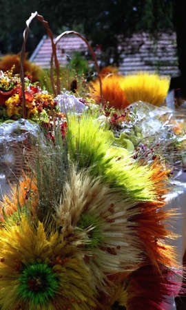 Colorful bouquet made on festival folklore and flora