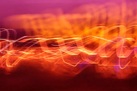 Image of flames and light strokes arranged in expressive composition photo