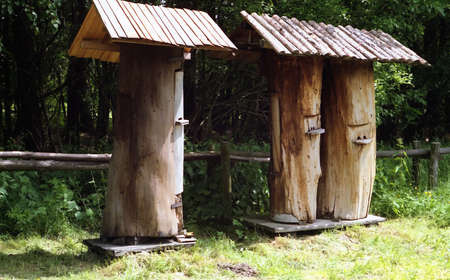 Ancient beehives located somewhere in central europe
