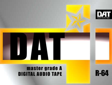 Digital audio tape DAT cassette envelope concept