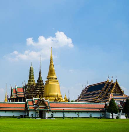 Wat Phra Kaew in Bangkok Thailand  The Emerald Budda is here  photo