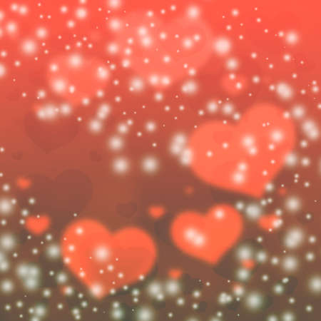 flirting: Red hearts background. Blurred hearts Background Valentines Day. Vintage hearts background. Stock Photo
