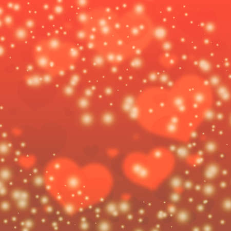 Red hearts background. Blurred hearts Background Valentines Day. Vintage hearts background. Stock Photo