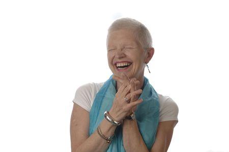 Senior woman laughs spontaneously. Stock Photo - 7345849