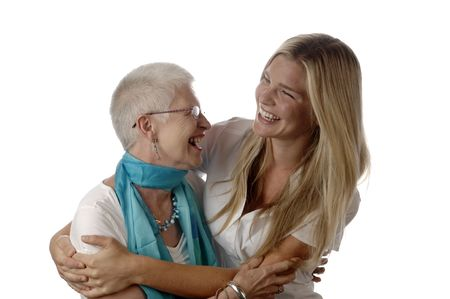 Mother and daughter share some tender moments.  Stock Photo