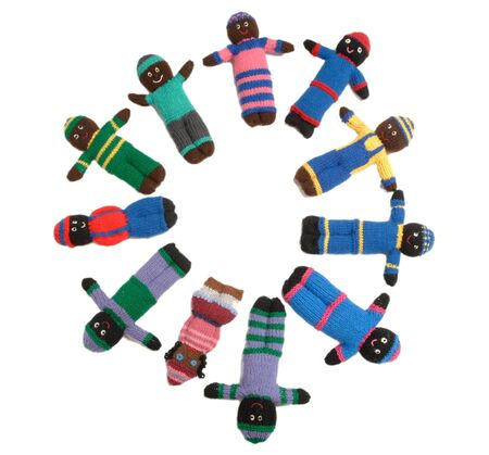 Canadian home made dolls for African children. Stock Photo