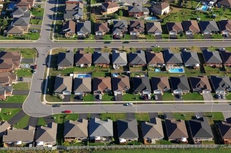 suburbia: Zoning patterns in contemporary North American towns.
