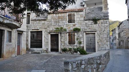 windows and doors: Old house, doors and windows Island of Vis Croatia