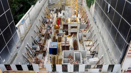 atmosphere construction: construction site Paris Editorial