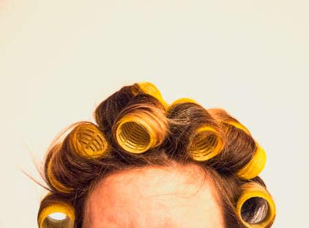 curler: roller, curler, rollers, hairdresser