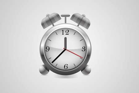 Metal alarm clock.Vector.  Vector