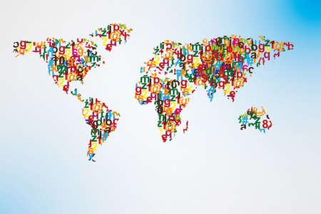 typo: alphabet world map