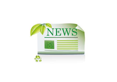 artikelen: krant pictogram Stock Illustratie