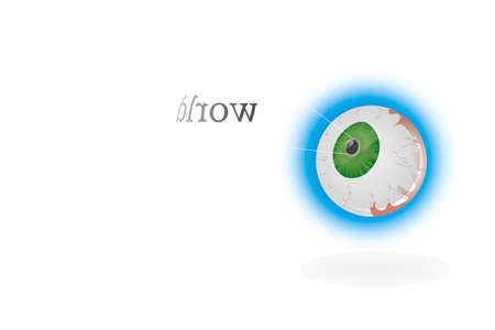 dilate: Blue eyeball  Illustration