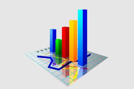 grafico vendite: 3d grafica vettoriale Vettoriali