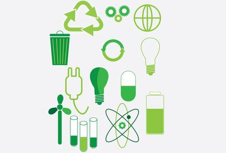 antipollution: vector-set of  environmental icons and design-elements