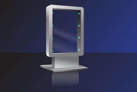 Vector Glass Billboard Vector