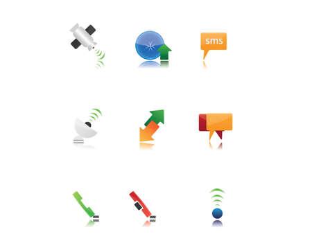 televisor: icon set comunications Illustration