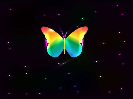 abstract butterfly vector poster Stock Vector - 10767368