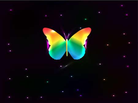 butterfly abstract: Cartel de vector abstracto mariposa