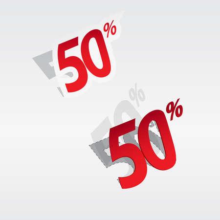 cut away: 50  Sale percents label