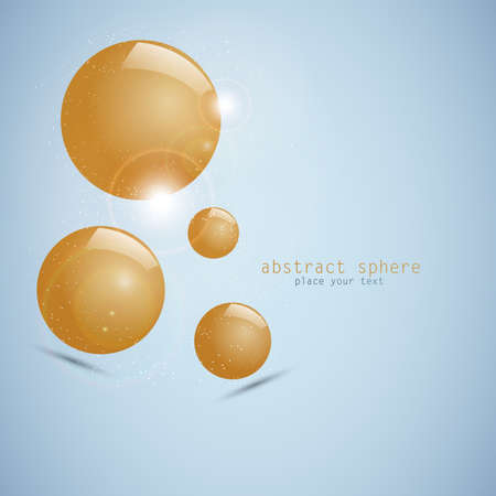 abstract 3d sphere Stock Vector - 12497848