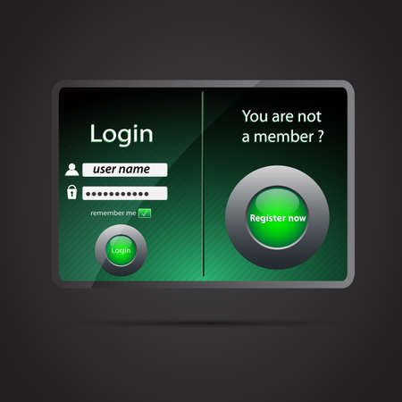 Illustration of a login page Vector