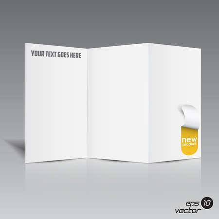 portfolio template: Folded blank brochure for your design Illustration