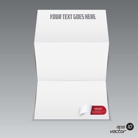 Folded blank brochure for your design  Vector