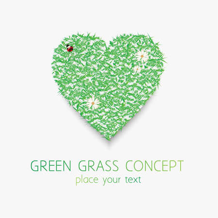 Green grass concept Stock Vector - 14332977