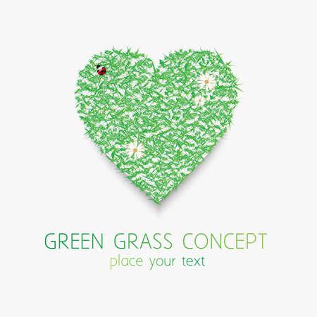 grassfield: Green grass concept Illustration