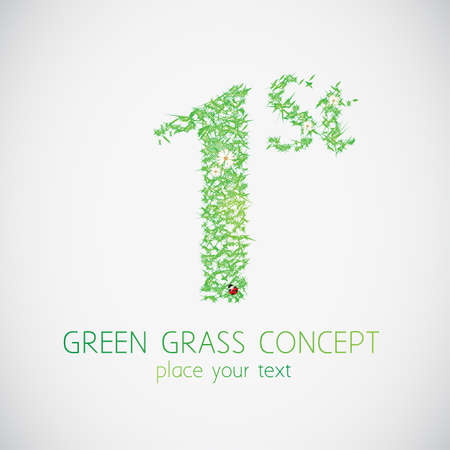 Green grass concept  Vector