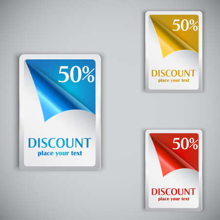 Discount cards Stock Vector - 14332991