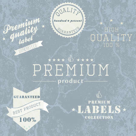 Vintage Premium Quality and Guarantee Label collection with grungy design Stock Vector - 14476365