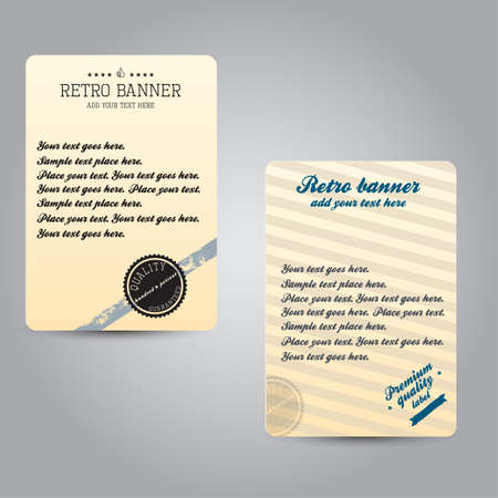 Old retro vintage label Vector