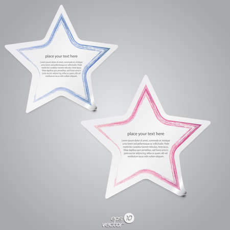 Colorful star label Stock Vector - 14588984