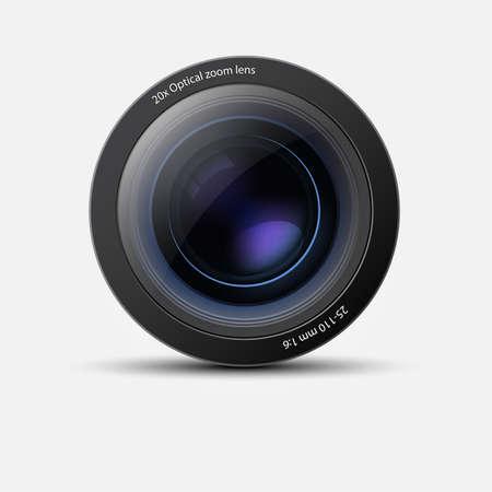 Lente de la cámara Ilustración de vector