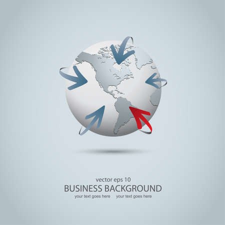 Business and communications concept illustration Vector