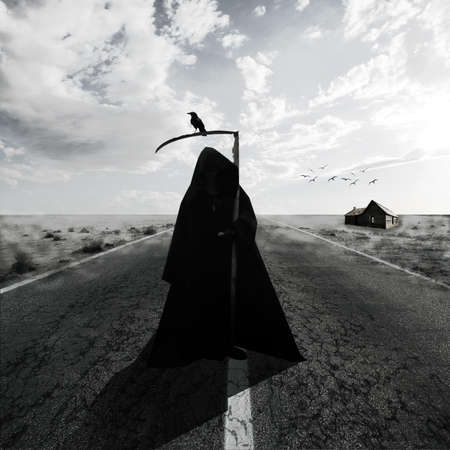 Grim Reaper en la carretera photo