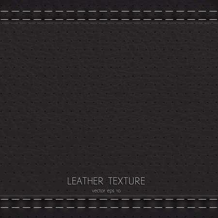 Fond noir en texture de cuir Vecteurs