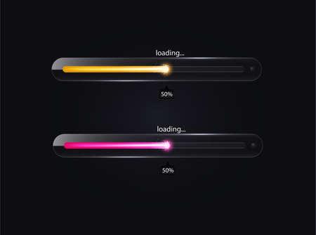 Glass loading bar Vector