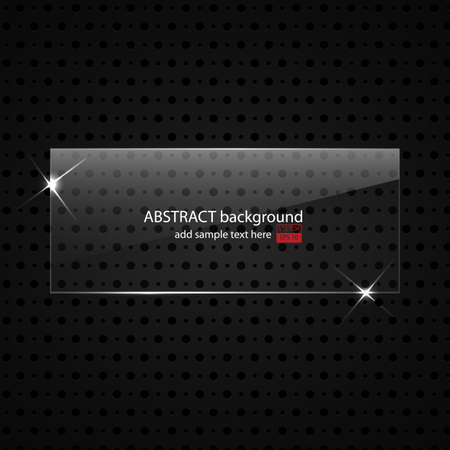 glass fiber: Metal background with glass frame for your text  Vector Illustration