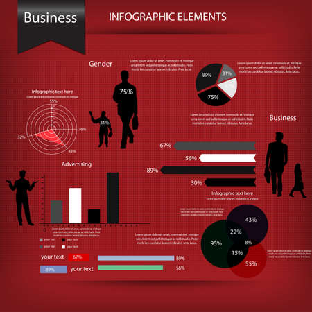 Business infographics set  Vector Vector