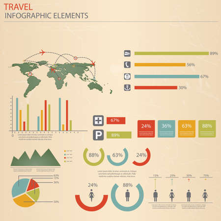 Infographic Travel Elements  Vector Vector