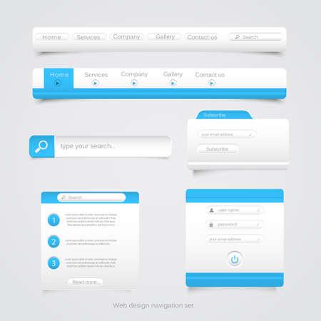 Web design navigation set  Vector Stock Vector - 15057183