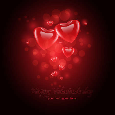 Valentines day or Wedding vector background with hearts Vector