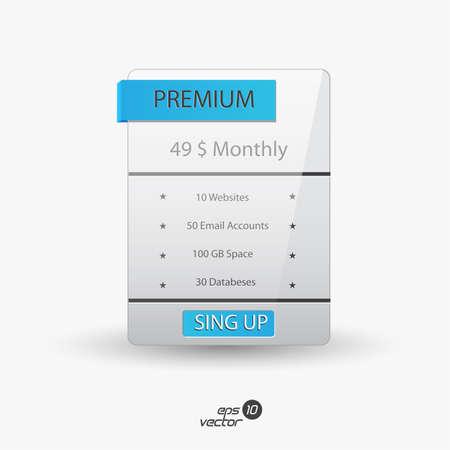 hospedagem: Caixas de planos de hospedagem web.